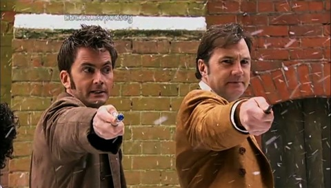 David Tennant and David Morrissey in The Next Doctor