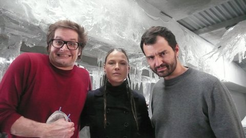 3.20 Bryan Fuller, Ali Larter and Greg Yataines - hangin' in the ice cave