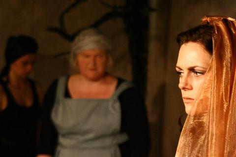 Charlotte Powell, Pamela Parry and Natasha Alderslade in Hippolytus
