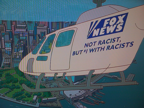 The Simpsons sends up Fox News