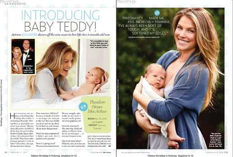Ali Larter in US magazine with her son