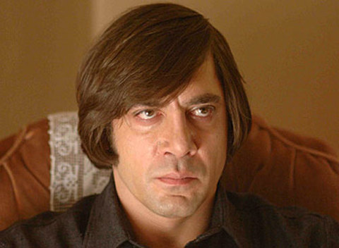 Javier Bardem with a bad haircut