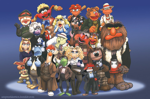 The Muppets as Doctor Who characters