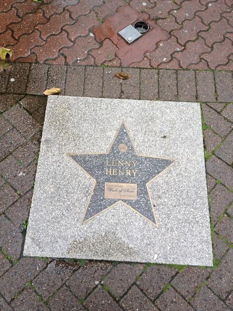 Lenny Henry's star on the Birmingham Walk of Fame