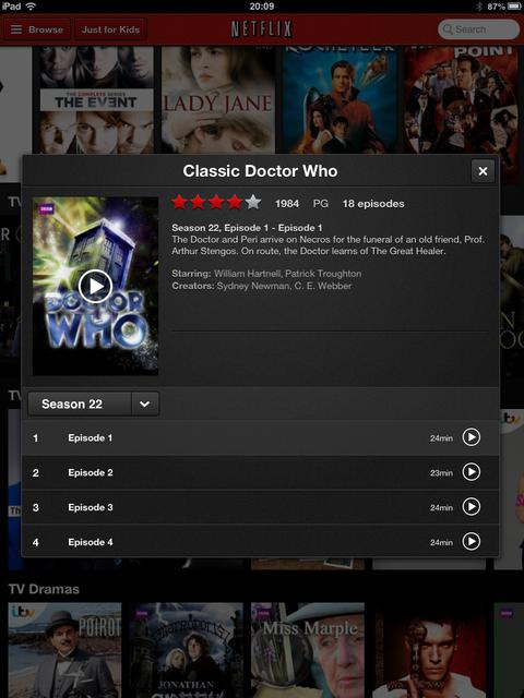 Netflix's Classic Doctor Who