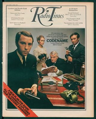 Radio Times cover of Codename, starring Alexandra Bastedo and Anthony Valentine