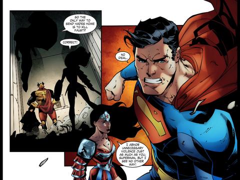 Superman won't kill, Wondy will