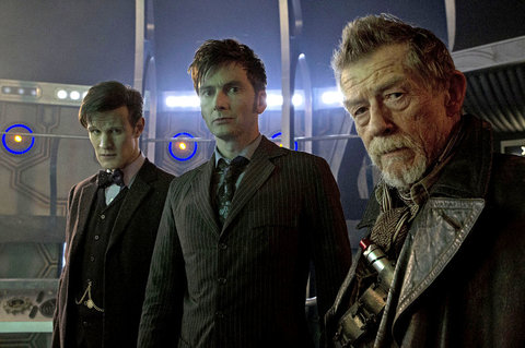Matt Smith, David Tennant and John Hurt