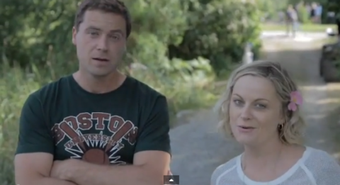 Greg and Amy Poehler in Welcome To Sweden