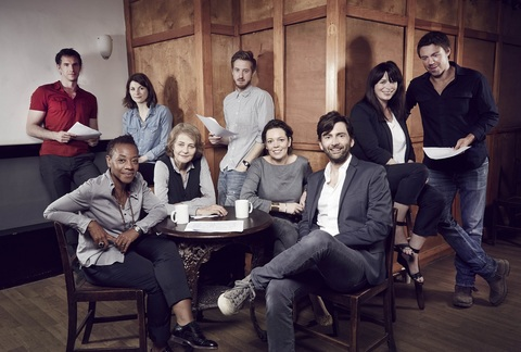 David Tennant and the rest of the cast of series two of Broadchurch at the first read-through