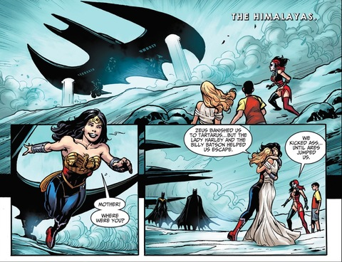 Wonder Woman and Hippolyta are reunited after death