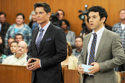 Rob Lowe and Fred Savage in Fox's The Grinder
