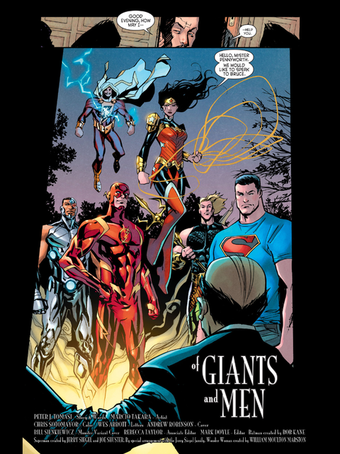 The Justice League arrive