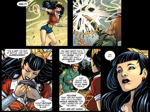 Wonder Woman stops the Nazi killer