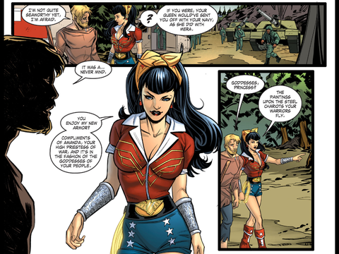 Wonder Woman's new DC Bombshells uniform