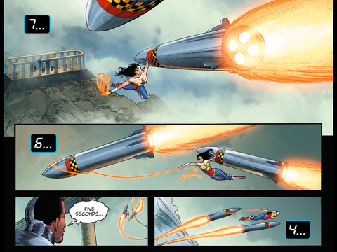 Wonder Woman stops the missiles