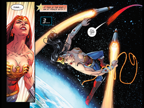 Wonder Woman is in trouble. Who will save her?