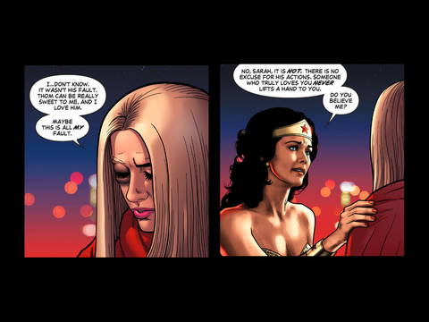 Wonder Woman preaches
