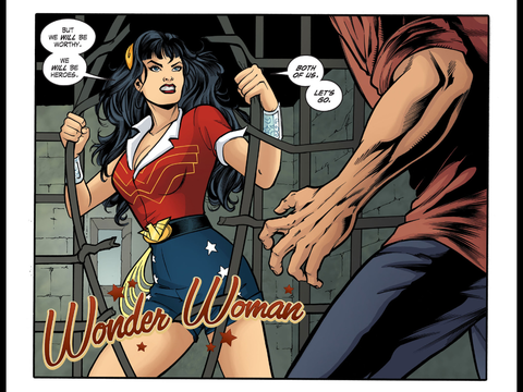 Wonder Woman breaks out of prison