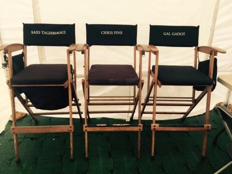 Star chairs on Wonder Woman