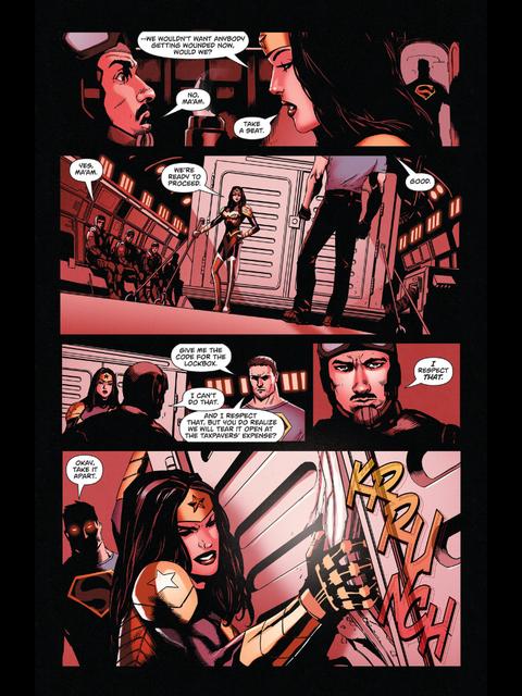 Wonder Woman quells some soldiers
