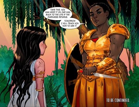 Alcippe will train Wonder Girl