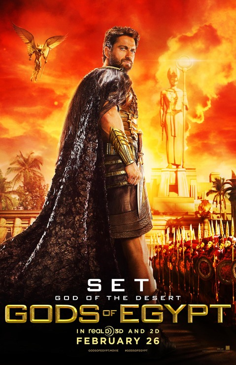 Gerard Butler as Set in Gods of Egypt