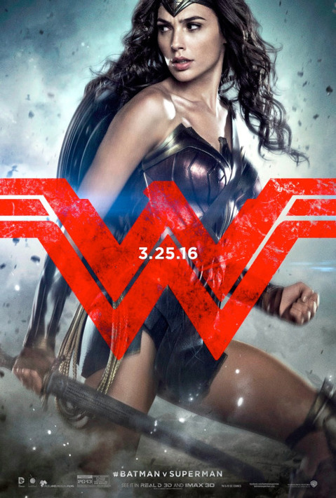 Batman v Superman: Wonder Woman character poster