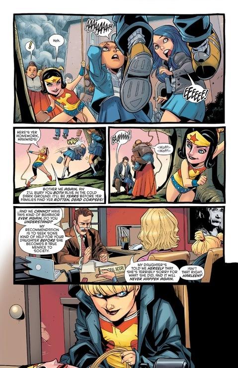 Harley dressed as Wonder Girl