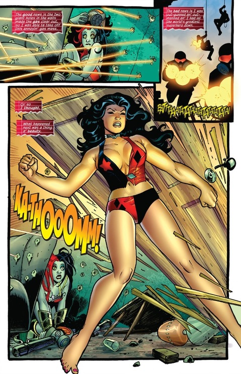Wonder Woman in Harley Quinn's outfit