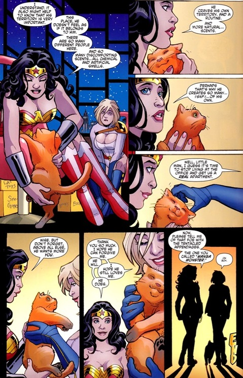 Wonder Woman speaks cat in issue #600