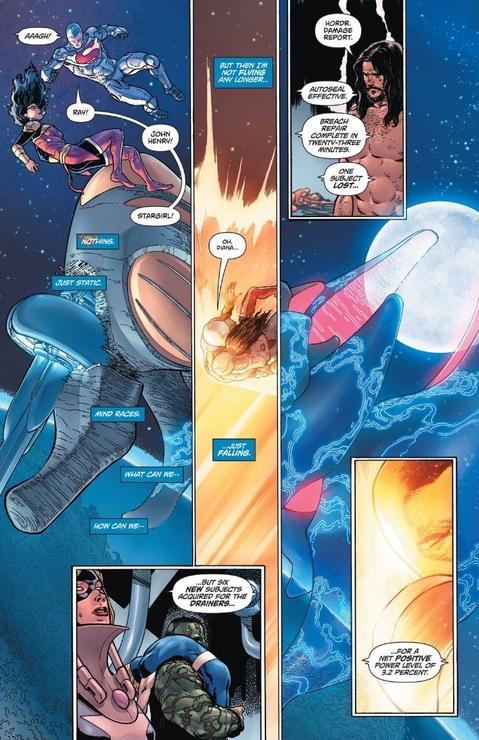 Wonder Woman and Superman plummet