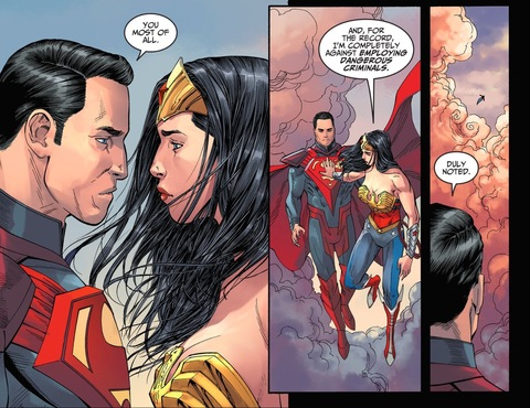 Superman moves in for a kiss