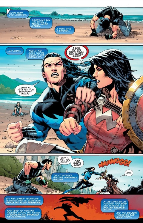 Donna Troy fights some Atlantean