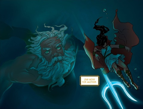 Poseidon saves Wonder Woman