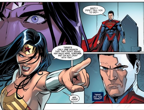 Wonder Woman is not okay with torture