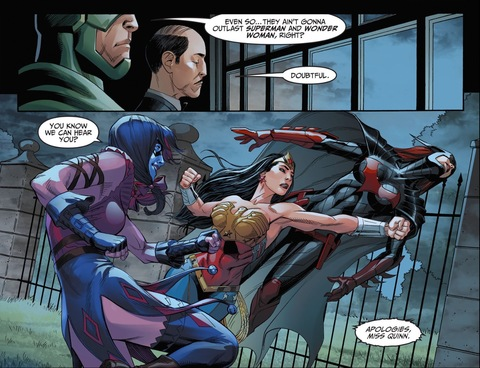 Wonder Woman punches Batwoman