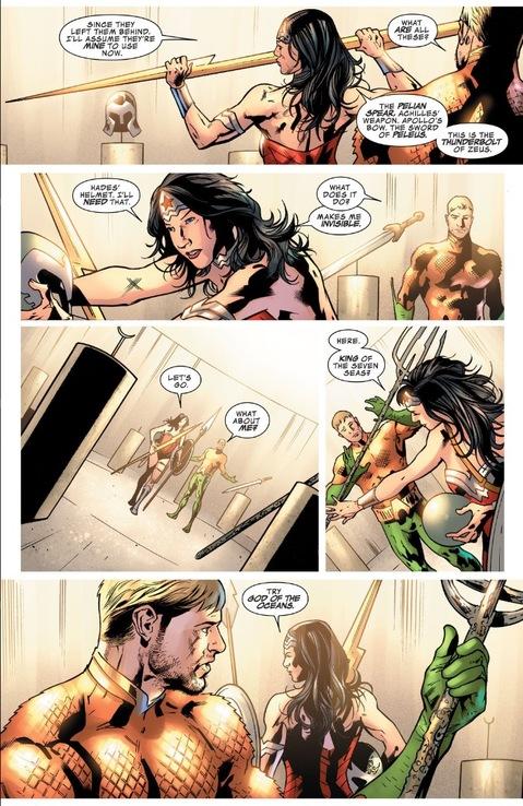 Wonder Woman arms herself