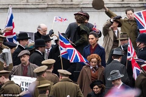 Wonder Woman filming in London
