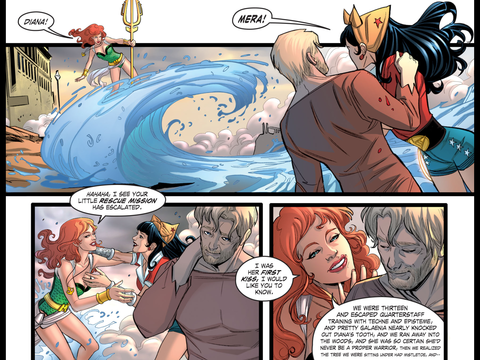 Diana was Mera's first kiss