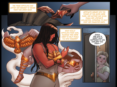 Wonder Woman wears her costume at last