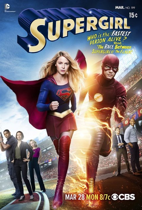Supergirl and the Flash crossover promo poster