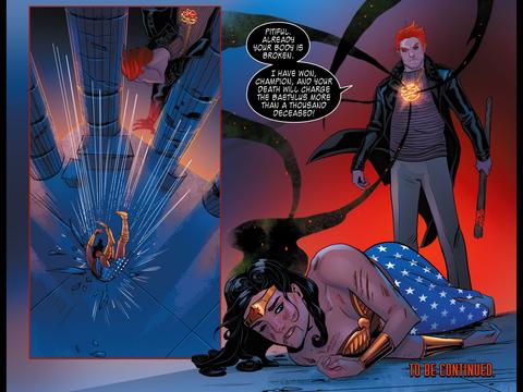 Wonder Woman is beaten