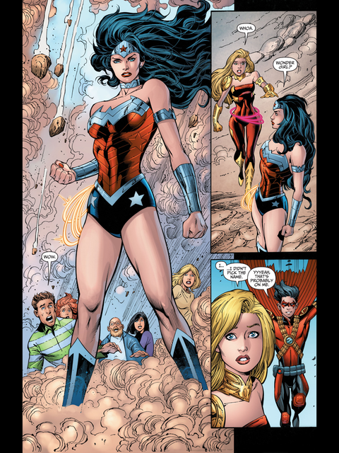 Wonder Woman and Wonder Girl meet