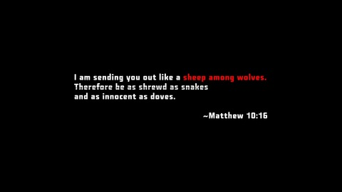 The Containment Moment: Matthew 10:16