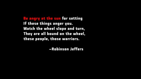Containment's Robinson Jeffers quote