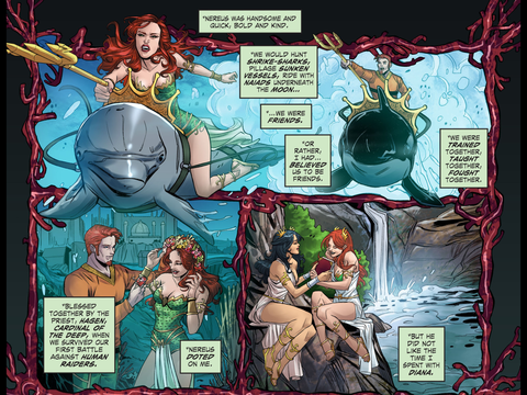 Mera and Diana are close