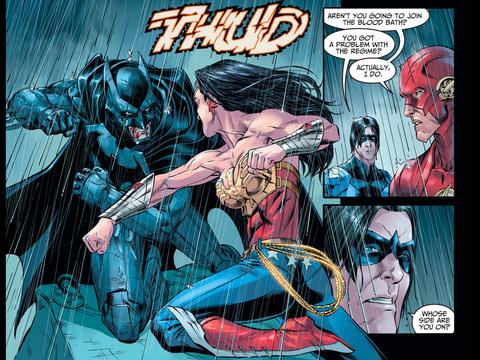 Diana punches Batman