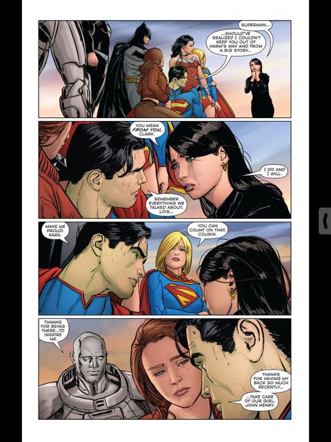Superman says goodbye