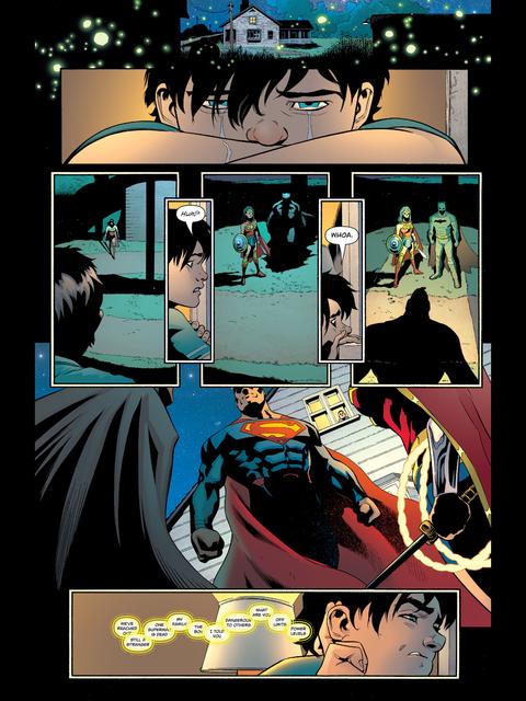 Old Superman meets Rebirth Wonder Woman and Batman